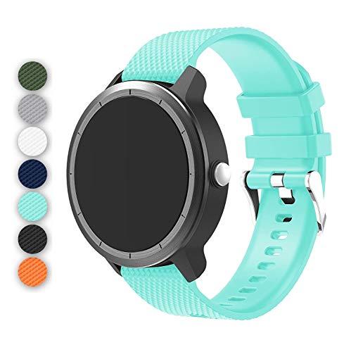 Anrir Vivoactive 3 Watch Band, 20mm Silicone Bands for Garmin Vivoactive 3/Forerunner 645 Music/Samsung Galaxy 42mm/Galaxy Watch 3 41mm/Galaxy Watch Active 2 40mm/44mm-Light Green