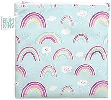 Bumkins Sandwich Bag / Snack Bag, Reusable, Washable, Food Safe, BPA Free, 7x7 – Rainbows