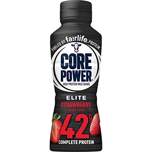 Core Power Elite High Protein Shake (42g), Strawberry, Ready To Drink for Workout Recovery, 14 Fl Oz Bottles (12 Pack) Pack of 10