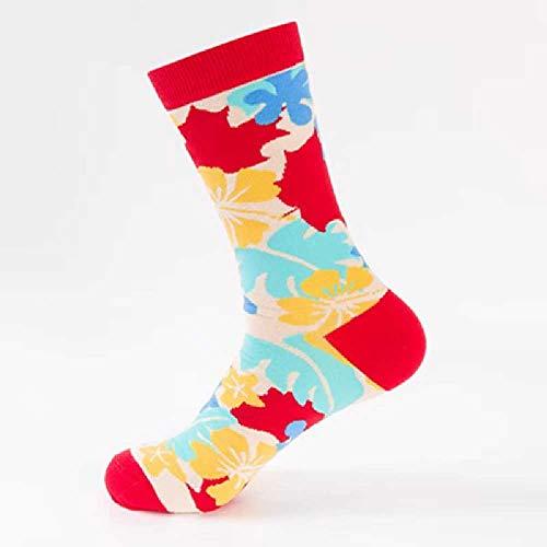 ZHANGNUO Mode Socken Tischtennis Serie Paare in Tube Baumwollsocken Lässig Wilde Socken Frauen Socken Eine Größe/Wellenmuster
