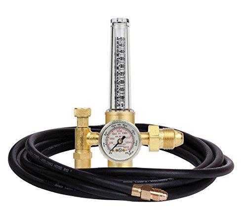 Victor Technologies 0781-2743 HRF-1425-580 Light Duty Flow Meter Cylinder Nitrogen/Argon/Helium Regulator with 10' Hose, 50-38 SCFH Flow Range, 25 psig Outlet Pressure