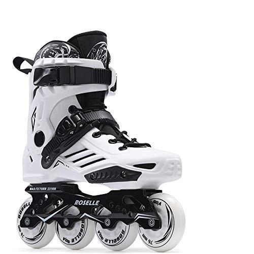 AYLS Inline-Skates für Erwachsene und Männer und Frauen Einstellbare Skates,White,43
