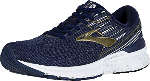 Brooks Men's Adrenaline GTS 19, Navy/Gold, 8 D