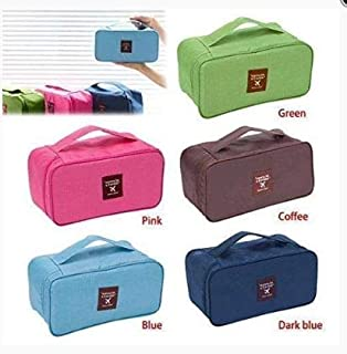 Tuzech Undergarments/Socks/Cosmetic Storage Bag with Removable Zipper Pouch/Travel Organizer