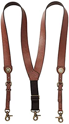 Nocona Belt Co. Men's Shot Shell Leather Suspender, tan, X-Large