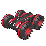 Beach Toys Remote Control Car - Amphibious Waterproof Vehicles for Kids 4-12 Year Old Pool Lake Outdoor All Terrain Rc Land Water Boat for Boys Girls 3 4 5 6 7 8 9 10 11 12 13 Ages
