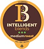 Intelligent Blends Medium Dark Roast Coffee Pods, 100ct. Solar Energy Produced Recyclable Single Serve Medium Dark Roast Coffee Pods - 100% Arabica Coffee California Roasted, KCup Compatible