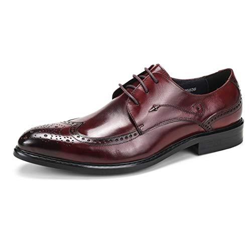 Zapatos de cuero de los hombres, zapatos de los hombres de negocios de Brock cuero, vestido tallado, zapatos de cuero de los hombres, zapatos