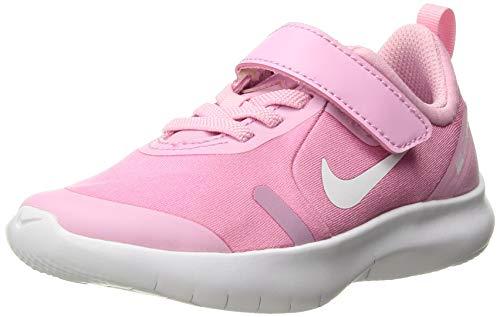 Nike Mädchen Flex Experience Rn 8 PSV Leichtathletikschuhe, Pink Rise White Pink Foam, 33.5 EU