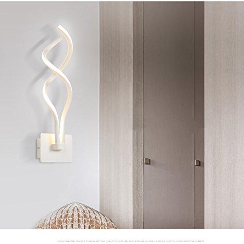 Good thing Applique Creative Simple Postmodern Lampe Art Salon Tablette murale Couloir Aisle Escalier Luminaire Luminaire Led Chambre à coucher (Couleur : Blanc)
