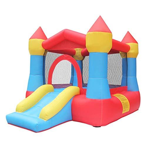 WRJY Hüpfburg für Kinder Springbett Domestic Trampolin Castle Slide Kleines aufblasbares Spielzeug (Farbe:...