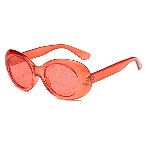 DIF 1 stuk ovale zonnebril mannen en vrouwen kleurrijke snoep transparante zonnebril pailletten bril driver bril