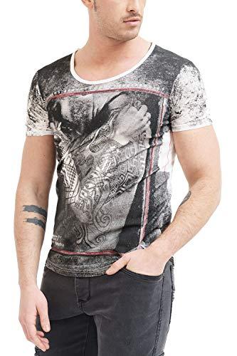 Trueprodigy Casual Homme Tee Shirt Motif imprimé, Vetements Swag Marque col Rond (Manche Courte & Slim fit Classic), t-Shirt Mode Fashion Couleur: Bla
