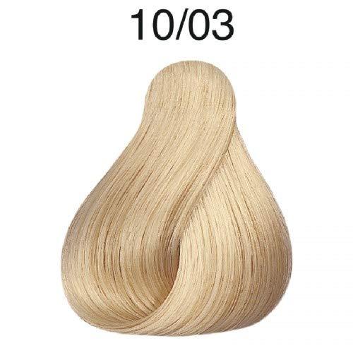 Koleston Coloration capillaire 60 ml, 10/03 - Pure Naturals - Blond doré clair, lumineux et naturel