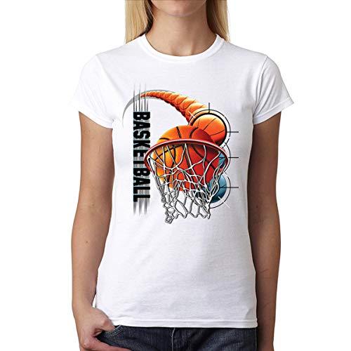 Baloncesto Slam Dunk Mujer Camiseta Blanco M