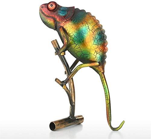 DECORACION FHW Escultura de Lagarto Metal Creativo Adornos de Mesa Mobiliario Artes for el hogar Animales Estatuas Regalos (Color : Default)