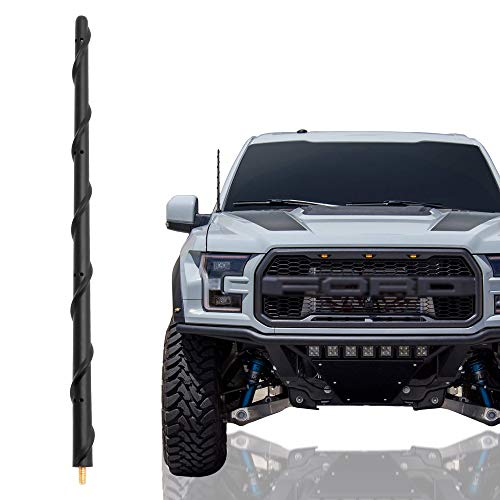 KSaAuto Antenna fits for Ford F150 2009-2020, 13 Inch Spiral Rubber Car Wash Proof Antenna Replacement Mast, New Designed for Optimized Car Radio FM/AM Reception, Antenna Compatible with F150