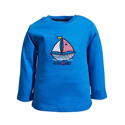 Salt and Pepper Longsleve Ahoy Uni Stick Camisa, Azul Cobalto, 62 cm para Bebés