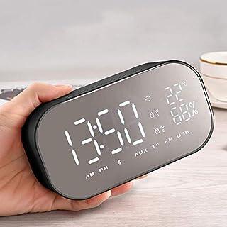 Bluetooth, LED Large Display Digital Travel Alarm Clock with Calendar, Temperature Display, Snooze Function, Smart Back-li...