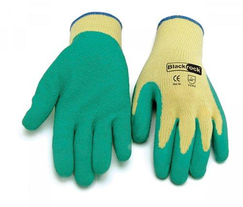 Blackrock Lot de 12 paires de gants de travail de sécurité Revêtement Latex Vert Taille 8/M
