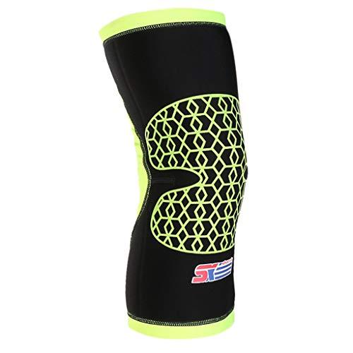 Meniskus Knie-Bandage Kniebandage Sportkniebandage für Fußball, Joggen oder Fitness, Atmungsaktive - Schwarz + Grün, M