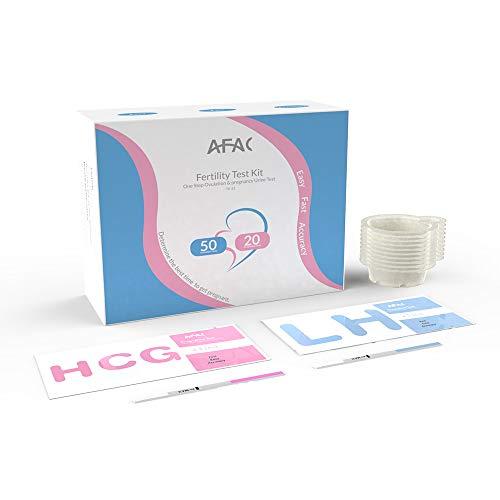 25 PZ Gravidanza hCG 50 Pezzi Strisce per Test Ovulazione LH Facile da Usare