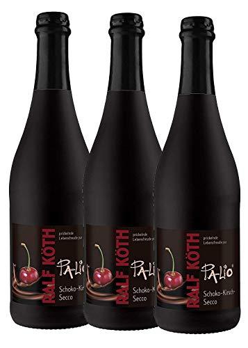Palio - Schoko Kirsch Secco 3x 0,75l - Fruchtiger Perlwein - Prämiert aus Deutschland