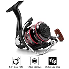 ✔ HIGHT QUALITY AND STRONGER: Joyday Fishing Reels are equipped with extra-hard metal main shaft, precision machined brass gears, CNC machined aluminum spool for superior durability and corrosion protection. This Spinning Reel provides smooth perform...