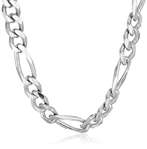 """Men's Sterling Silver Italian 6.80mm Solid Figaro Link-Chain Necklace, 22"""""""