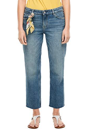 s.Oliver RED Label Damen Regular Fit: Cropped Jeans mit Tuch Blue 44