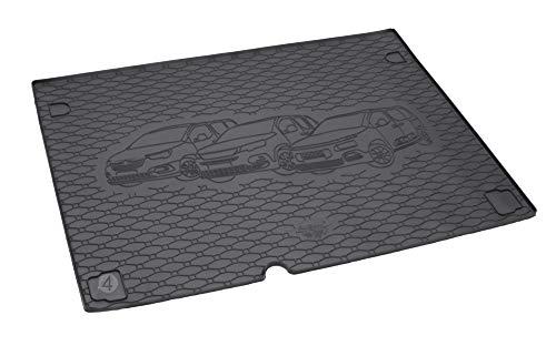 Passgenau Kofferraumwanne geeignet für Citroen Berlingo L1 5-Sitze ab 2019 ideal angepasst schwarz Kofferraummatte + Gurtschoner