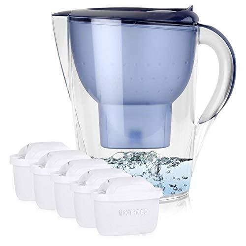 BRITA Marella XL 3,5L Wasserfilter Blau inkl. 5x Maxtra+ Kartuschen