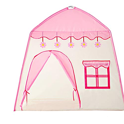 YYFZ Kinder Tipi Zelt Kinder Tunne Indoor-Spiel Junge Mädchen Spielzeug Kronleuchter ist EIN schönes Geschenk-Pink