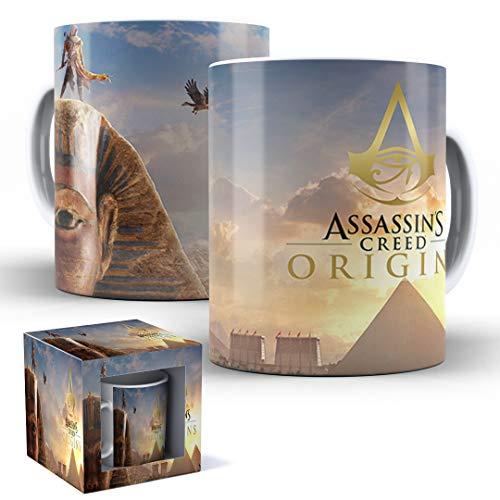 Caneca de Porcelana com Caixinha Presente Assassin's Creed Origins mod.01