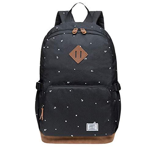 HFY Mujer Mochila, Escolar Mochila para portátil Multiusos Daypacks 14 Pulgadas, para Negocio,Viaje,Escuela,Hombre Mujer Trabajo Diario (Negro-1)