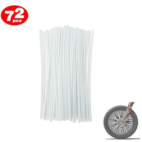 Preisvergleich Produktbild DIXIUZA 72Pcs Motorrad-Speichen Felle Decken Räder Trim Cover Pipe Dekorative Schutzhülle Kits Passend für Geländewagen Fahrrad Off-Road Dirty Bike