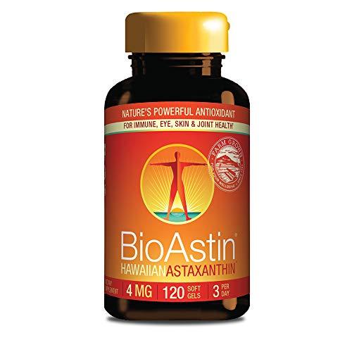 Nutrex Hawaii, BioAstin, Astaxantina Hawaiana, 4 mg, 120 cápsulas, sin gluten