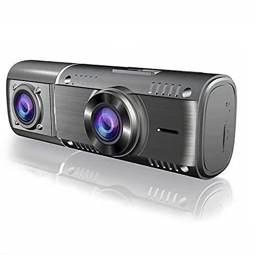 Dashcam,Sensores Aparcamiento Coche RotacióN De 360 ° De Doble Lente HD 1080p,Camara Vigilancia Coche Vision Nocturna Mini Camara Coche Bloqueo De ColisióN Registro De Bucle