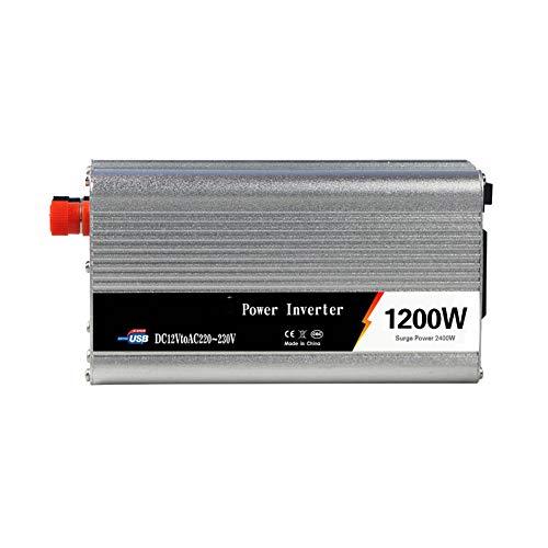 CXD Wechselrichter 500W/600W/800W/1000W/1200W/1500W/2000W Spannungswandler DC 12V/24V Auf AC 220V/230V/240V Umwandler - Inverter Konverter mit Steckdose und USB-Port,2000W-12Vto220V,1