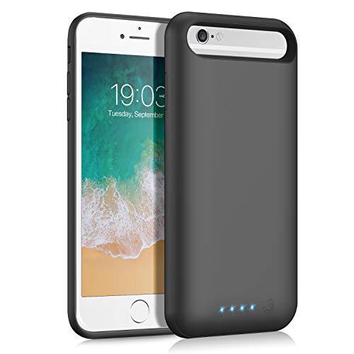 バッテリーケース iPhone6/6s/7/8/SE2 対応 バッテリー内蔵ケース 6000mAh 大容量 軽量 ケース型バッテリー コードレス 急速充電 4.7インチ用 外出/旅行/出張等に大活躍に