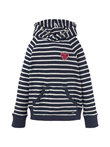TOM TAILOR Mädchen Strick & Sweatshirts Gestreifter Hoodie mit Tasche Dress Blue|Blue,92/98