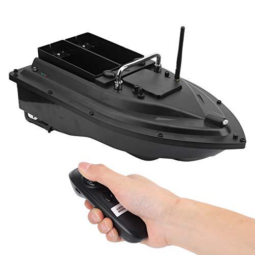 Keenso Barco de Cebo de Pesca RC, 100-240V 50 / 60Hz D16C Cebo de Pesca Barco de RC Buscador de Peces Barco de Cebo con Control Remoto 500m Control Remoto(Enchufe de la UE)