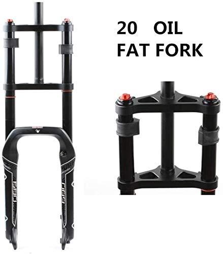 MGEE Double Shoulder Fork 20inch, Fat Tire Pneumatic/Oil Spring Suspension Fork(Color:Oil Spring Version)