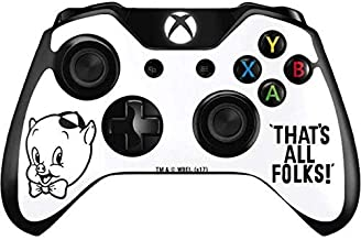 Skinit Decal Gaming Skin for Xbox One Controller - Officially Licensed Warner Bros Porky Thats All Folks Grid Design