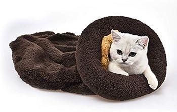 YGJT Lit pour Chats/Petit Chien Sofa Coussin de Couchage Panier de Haute Qualité Tapis Accessoire pour Animaux Domestiques 52x40x13cm (Marron)