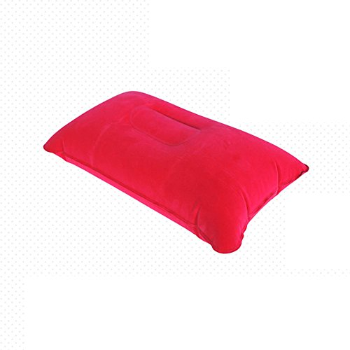 Vovotrade® Coussin Gonflable pour l'air de Voyage pour oreillers Camping Beach Car Head Rest Support (Free Size, Rouge)