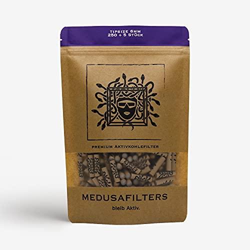 Medusafilters Premium Aktivkohlefilter Ø 6mm 250er Packung