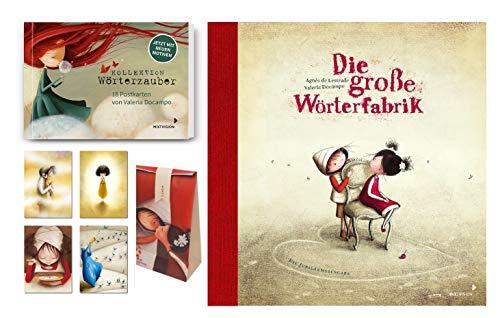 Agnès de Lestrade | Die große Wörterfabrik | Buch + Postkartenset + Wörtertüte
