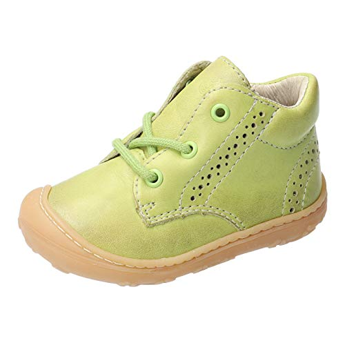 RICOSTA Unisex - Kinder Lauflern Schuhe Kelly von Pepino, Weite: Mittel (WMS), toben Spielen verspielt detailreich Freizeit,Lime,22 EU / 5.5 Child UK