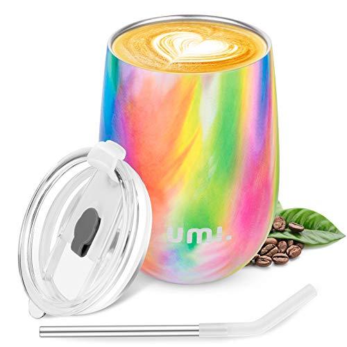 Umi - Mug café isotherme avec paille incluse, 360ml